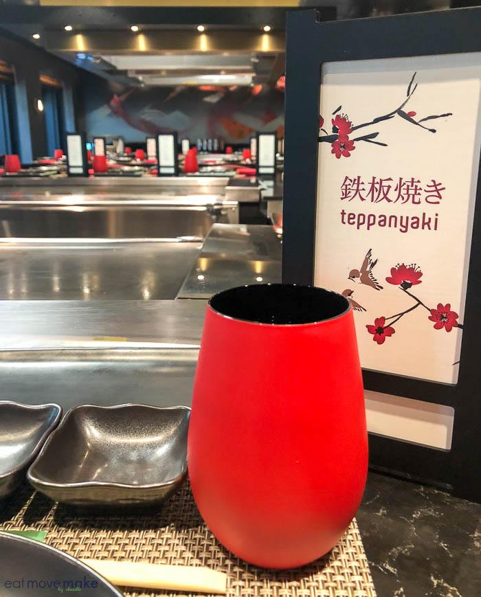 Teppanyaki restaurant on Bliss