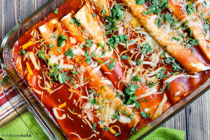 chicken and spinach enchiladas recipe