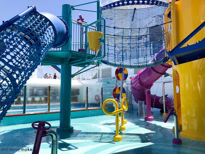 Norwegian Bliss and Norwegian Cruise Line kids pool area