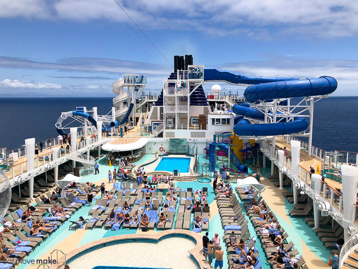 swimming area on Norwegian Bliss