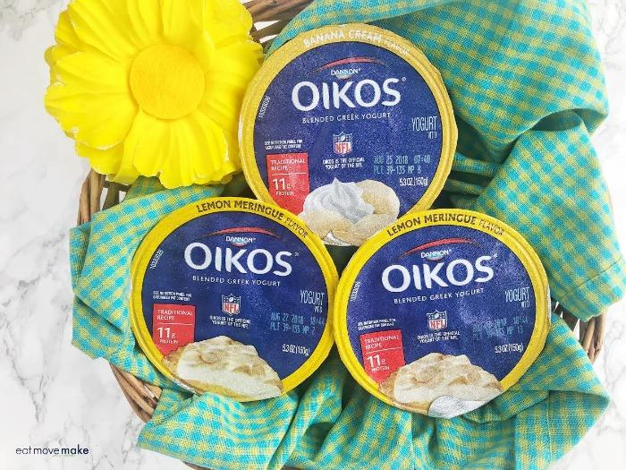 Oikos Greek yogurt containers