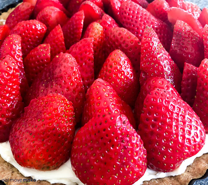 strawberries in tart