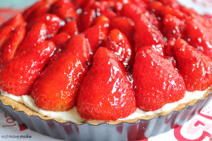 A close up of strawberry tart
