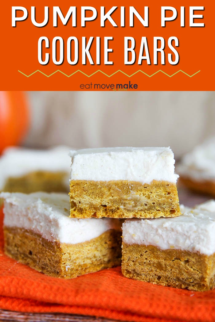 pumpkin pie cookie bars