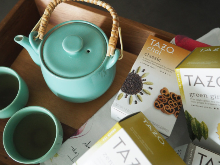 Tazo Tea with teapot