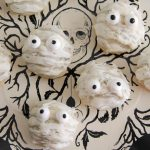 mummy cookies on plate