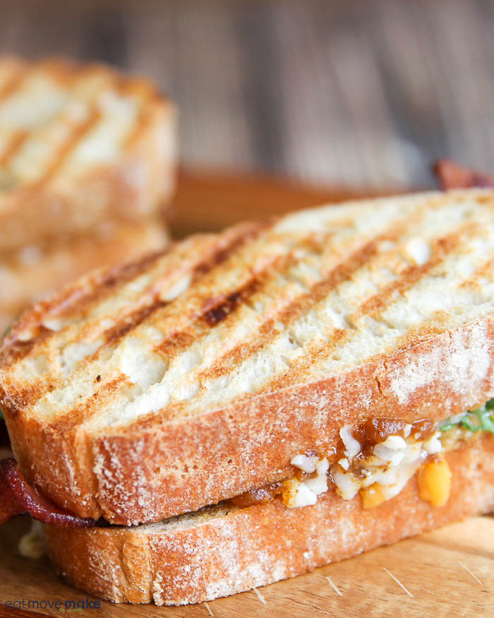 unsliced pumpkin grilled cheese panini