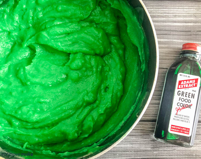 green batter in a bowl