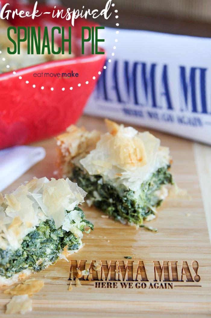Greek-inspired spinach pie recipe