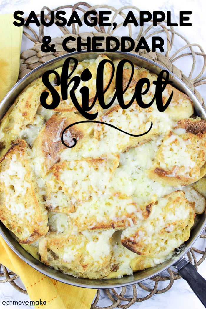 sausage apple and cheddar skillet recipe