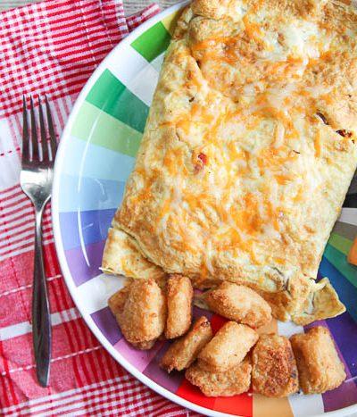 veggie tots omelet