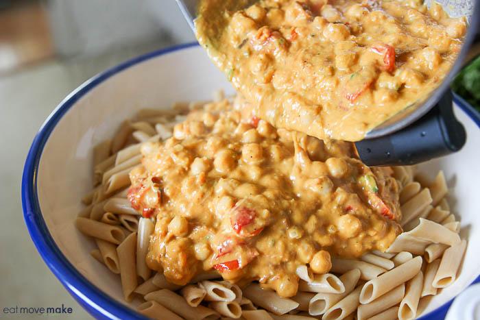 add pumpkin pasta sauce to penne