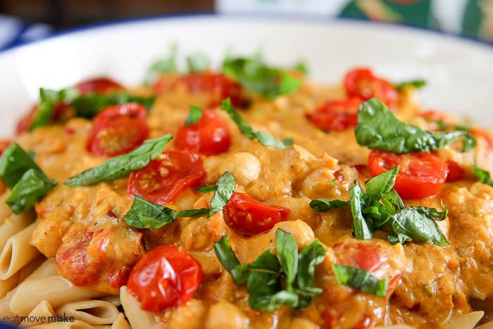 close-up of pumpkin pasta sauce