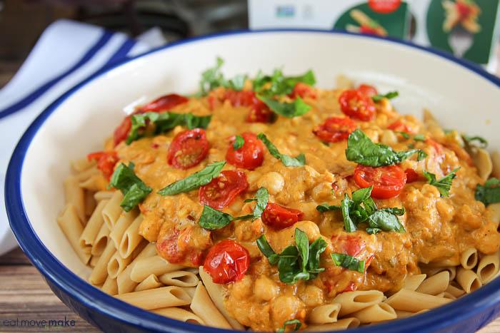 bowl of pumpkin pasta
