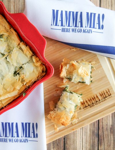 spinach pie in dish