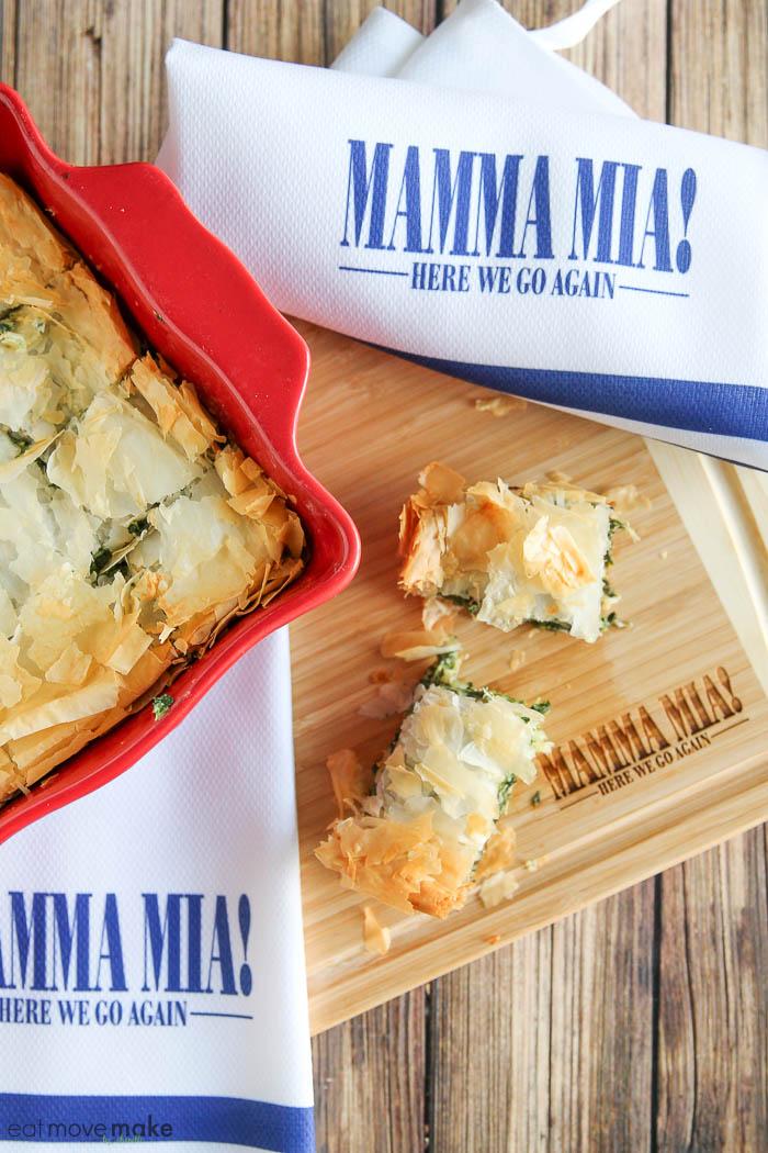 Mamma Mia Greek-inspired spinach pie