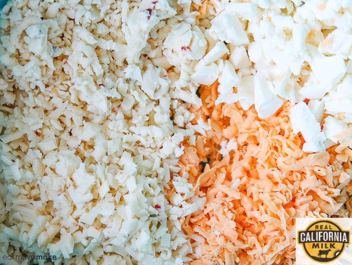 Queso Blanco, Oaxaca, Sharp Cheddar and Pepper Jack cheese- shredded