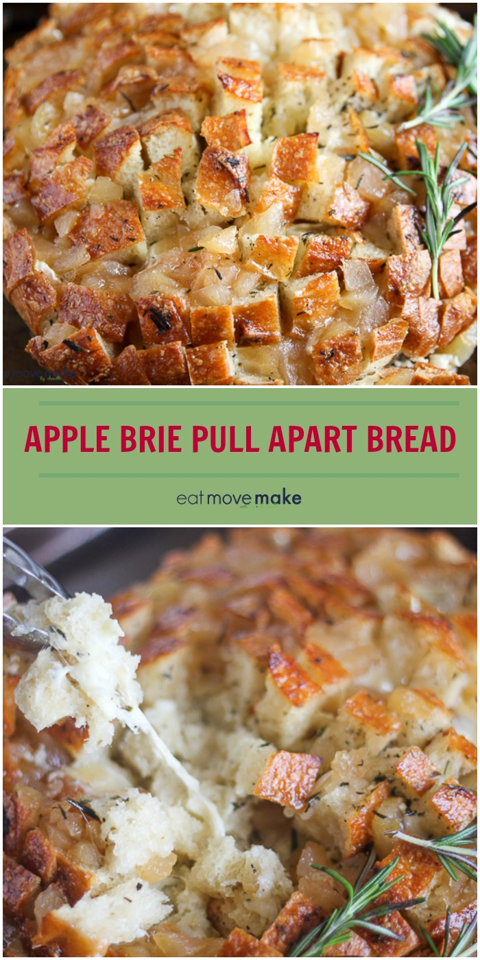 apple brie pull apart bread