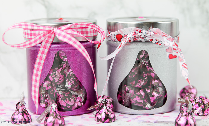 DIY valentines day candy jars