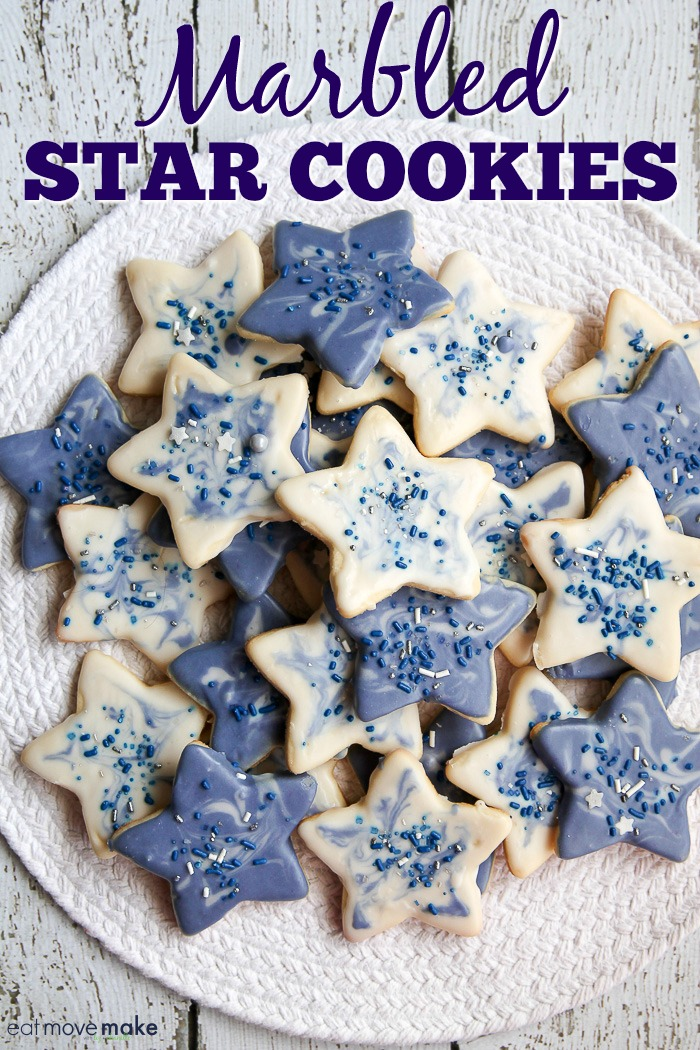 marbled star cookies recipe
