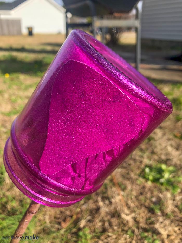 spray painted jar
