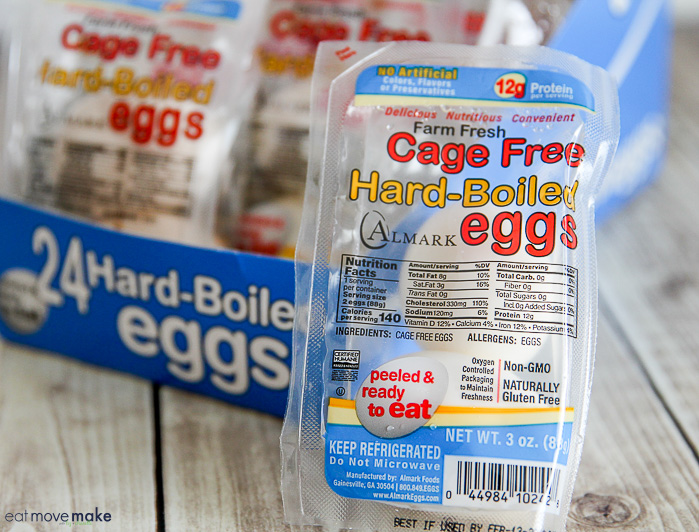 pre-cooked hard-boiled eggs in package