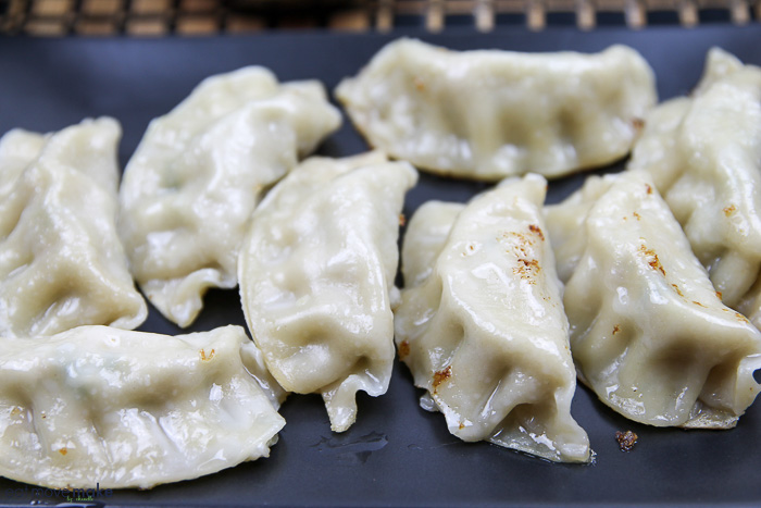 cooked potstickers