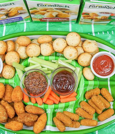 snack tray of food on table