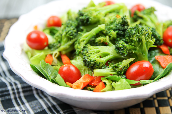 zesty broccoli salad in bowl