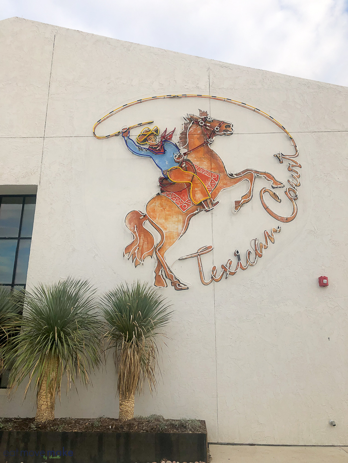 Texican Court sign