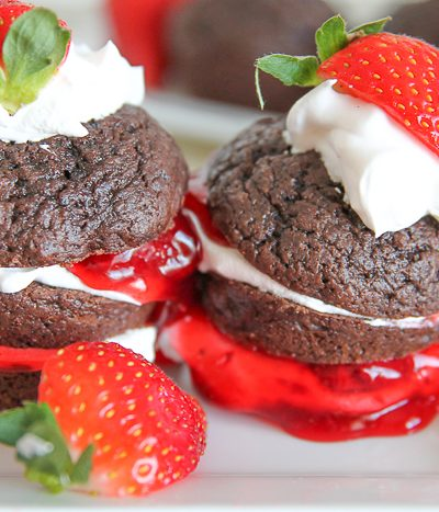 chocolate muffins on plate