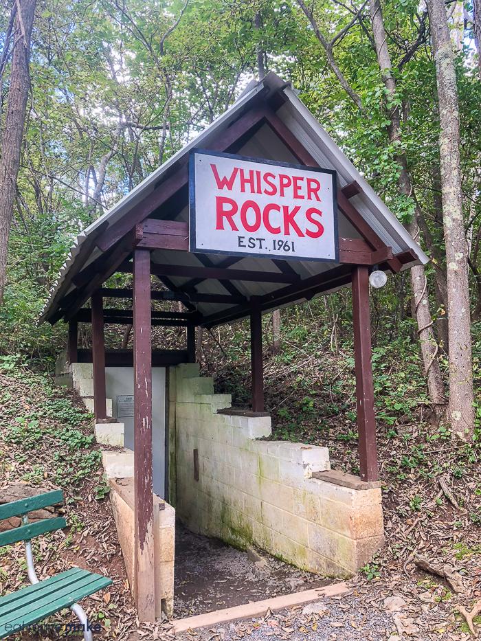Whisper Rocks sign