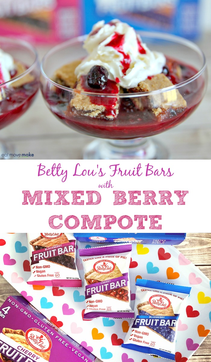 Betty Lou's Fruit Bars with Mixed Berry Compote dessert