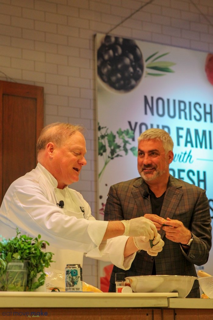 Taylor Hicks at a cooking demonstration