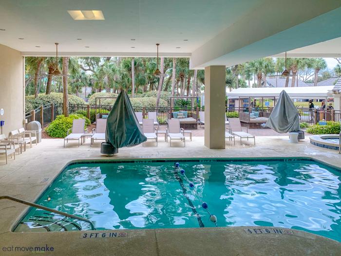 Sonesta Hilton Head shade pool