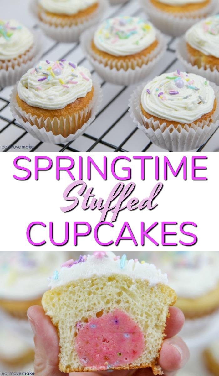 springtime stuffed cupcakes