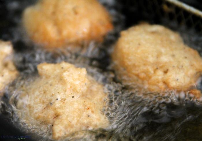 frying pancake kabobs