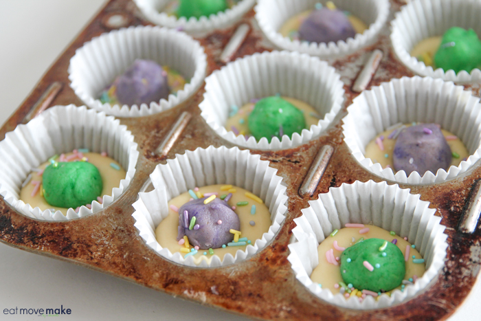 cake balls inside cupcakes