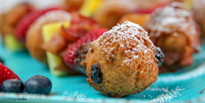 Blueberry Lemon Poppyseed Pancake Balls and Breakfast Kabobs breakfast and brunch recipe