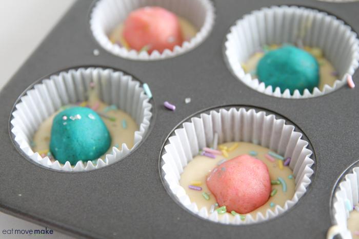 add cake ball to cupcake