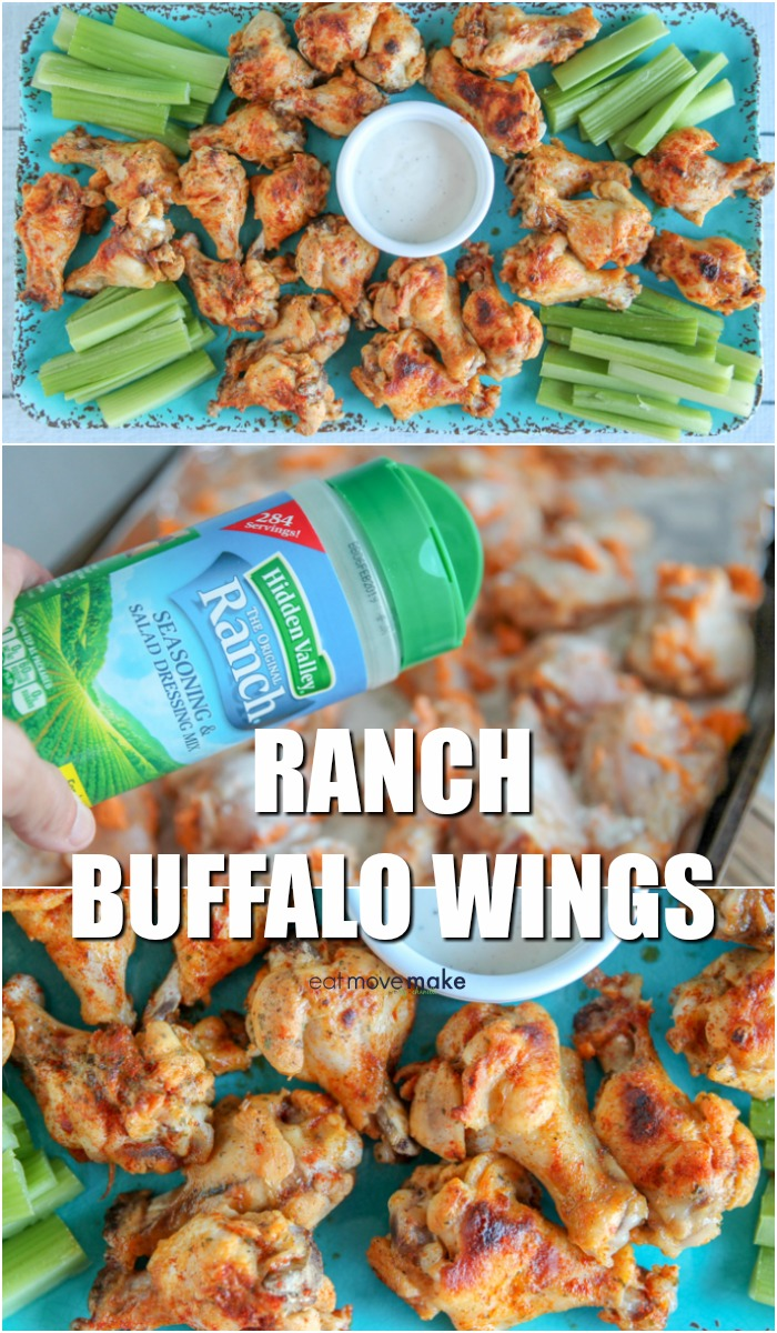 Ranch Buffalo Wings on serving tray