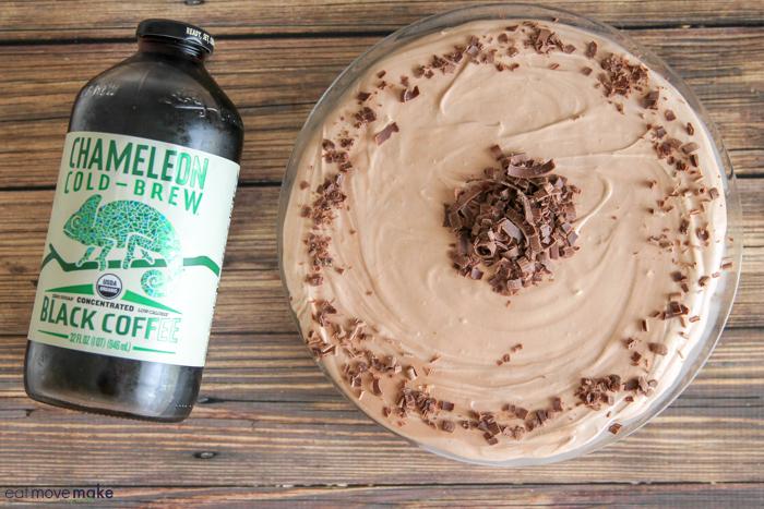 chocolate peanut butter coffee icebox pie unsliced
