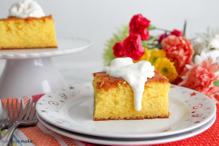 lemonade cake on plate