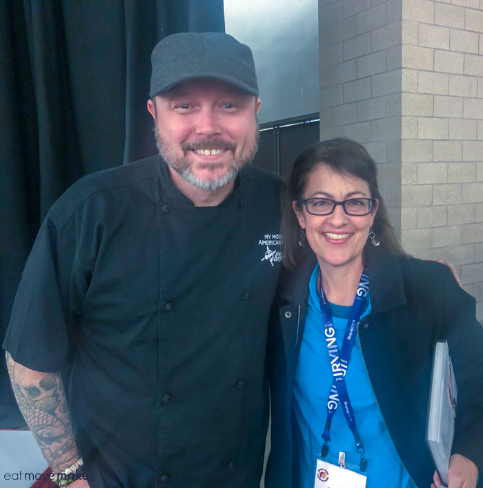 posing with Chef Shaun ONeale