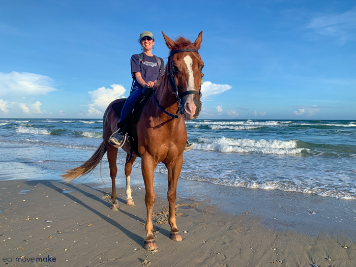 horseback riding on the beach - outer banks horseback riding