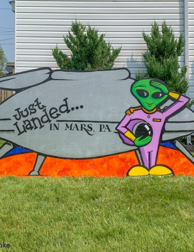 a Mars UFO sign