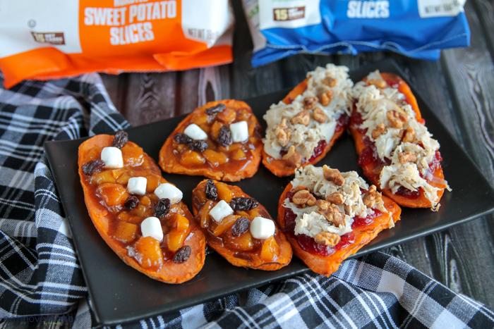 sweet PotaTOASTS appetizers