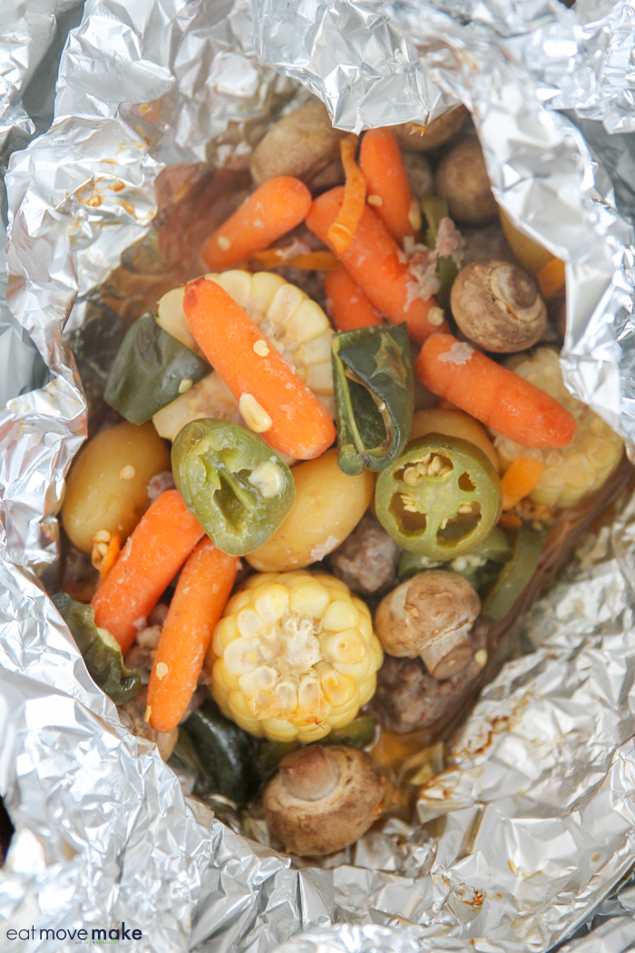 beef and potato foil packet dinners