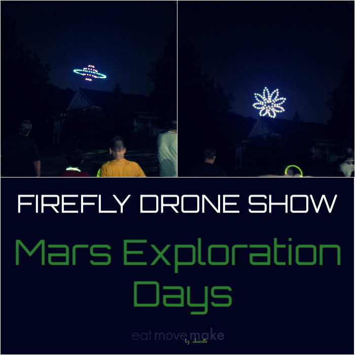 Mars Exploration Days - firefly drone show