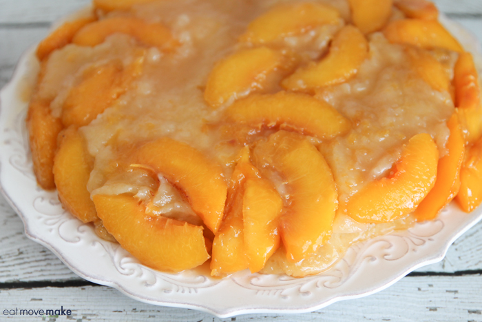 inverted peach upside-down cake
